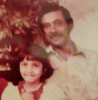 papa and i watercolour